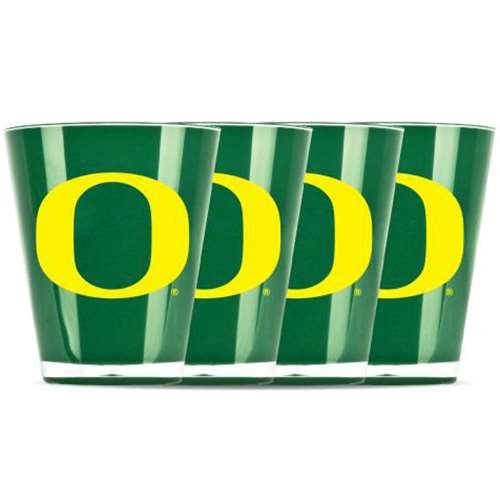 Duck House NCAA Univ of Oregon Insulated Mini Tumbler (4 Piece Set), One Size, Multicolor