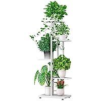 ZZBIQS 5 Tier Metal Plant Stand Holder,Adjustable Multiple Flower Pot Holder Shelves, Planter Shelf Display Rack Storage…