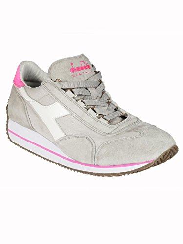EQUIPE W SWC6163 ALASKA GREY Scarpa da donna rialzata vintage colore grigio, bianco e rosa Grigio 38.5