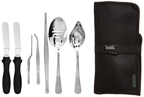 - Nuvantee Plating Tools - Professional Chef Kit - 8 Piece Culinary Plating Set - Stainless Steel