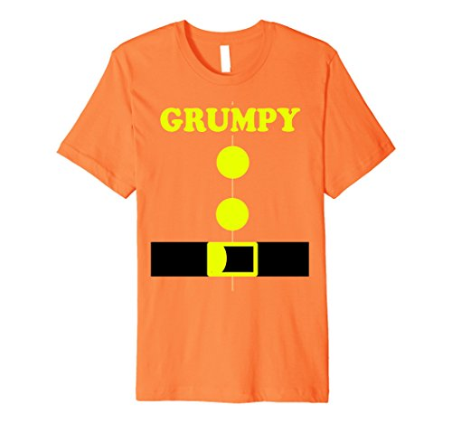 Mens Halloween Dwarf Costume Kindergarten Funny 7 Teachers Shirt 2XL Orange