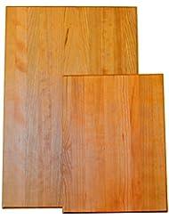 American Hardwood Classics Solid Cherry Cutting Board Set - Large and Beautiful (18 x 12 x 1)