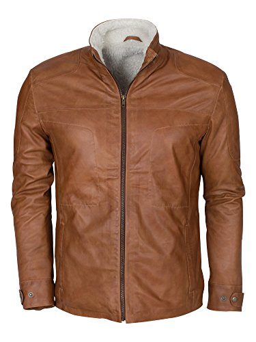 The Jacket Makers Men's Superhero Costume Collections Genuine Lambskin Leathers Jackets and Coats (NJ Fur Lining Jacket, XS) -