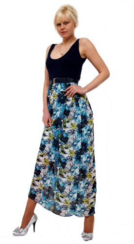 Young-Fashion - Vestido - Sin mangas - para mujer Azul