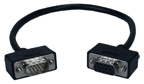 (QVS High Performance Ultra Thin VGA/QXGA HD15 Male To Female Tri-Shield Cable (CC320M1-01) (Discontinued by Manufacturer))