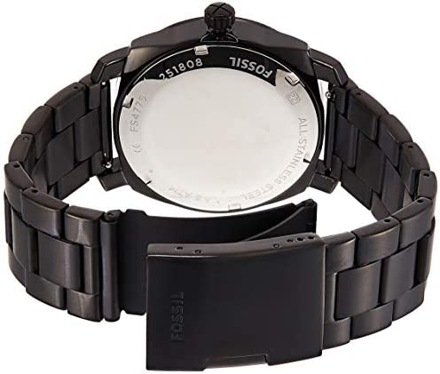 Fossil Men s 42mm Machine Black IP Stainless Steel Dress Watch