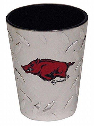 Ncaa Arkansas Razorbacks Diamond Plate - NCAA Arkansas Razorbacks Shotglass, Diamond Plate
