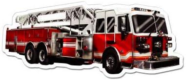 Fire Engine Vinyl Sticker Waterproof Decal