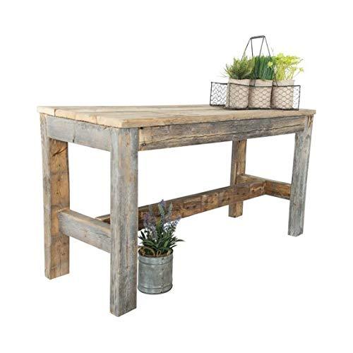 Barnwood Bench by Del Hutson Designs (Natural Barnwood) (Wooden Furniture Reel)