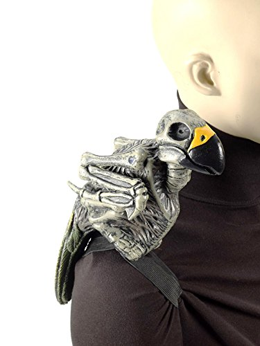 [Zombie Parrot Undead Pirate Costume Shoulder Prop] (Ghost Pirate Costume)