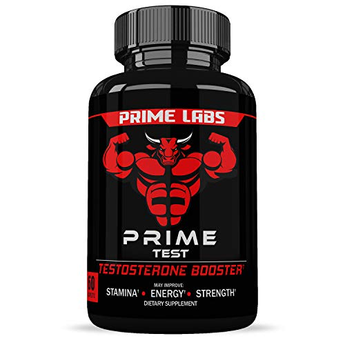 Prime Labs - Men's Test Booster - Natural Stamina, Endurance and Strength Booster - 60 Caplets (Best Age To Workout)
