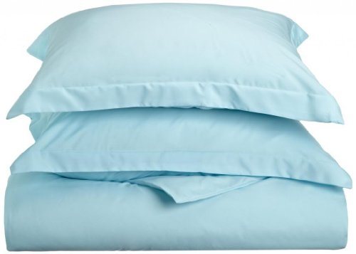 Best Deals! Clara Clark Premier 1800 Series 3-Piece Duvet Cover, California King, Light Blue Aqua