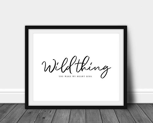 Arvier Wild Thing You Make My Heart Sing Print Leopard Print Scandinavian Wall Art Home Decor Animal Print Scandi Fashion Framed Wall Art