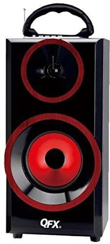 QFX BT-168RD Bluetooth Multimedia Boom Box with FM Radio - Red by QFX