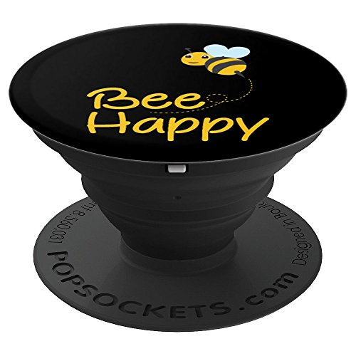 Bee Happy - PopSockets is a useful and fun bee gift for anyone who loves bees