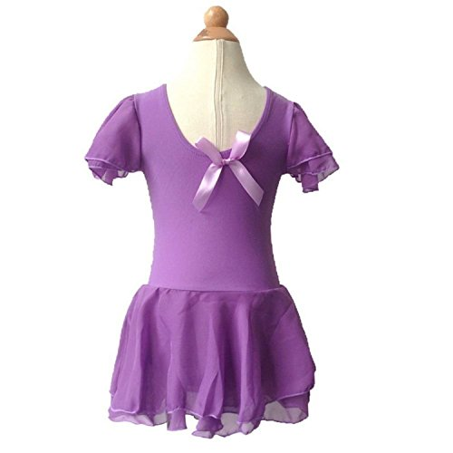 Price comparison product image Garyline Children Girl Dance Tutu Dress Ballet Gymnastics Leotard and Skirt PurpleLarge