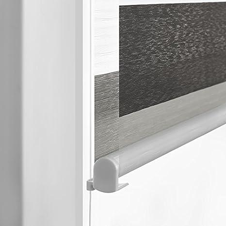 58 x 160 cm Vidella 157250148592002402 Doppelrollo ZEBRA 3color Fenstermontage grau-weiss-graphit