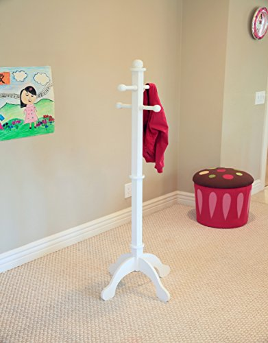Kids Coat Rack Clothes Pole - Frenchi Home Furnishing CR05WH Kid's Coat Rack