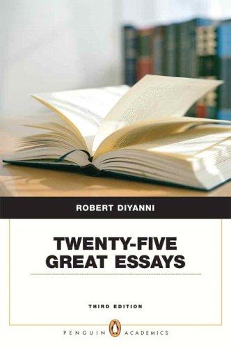 Twenty-Five Great Essays (Penguin Academics Series) (3rd...