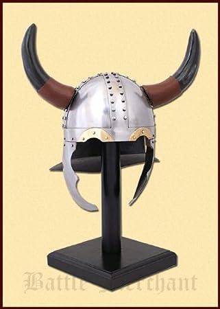 Cuernos Casco – Casco vikingo – Vikingo – Casco con cuernos – LARP