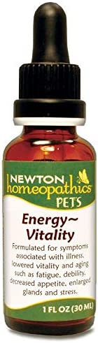 Newton Homeopathics Energy Vitality Assist for Dogs and Cats, 1 fl. oz.