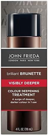 John Frieda Brilliant Brunette Visibly Deeper Colour Deepening Treatment, 4 Ounce