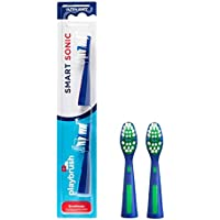 Playbrush Smart Sonic Replacement Toothbrush Heads Original, Pack of 2, Multicolour