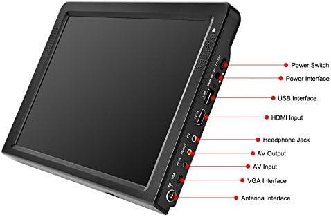 SODIAL Portátil 12 Pulgadas Tft Led 1080P HD Pvr H.265 Dvbt2 TV ...