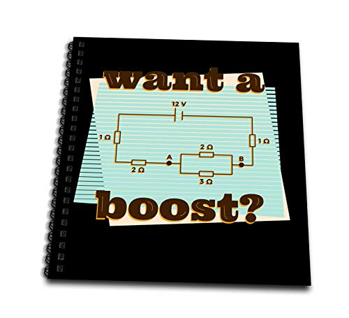 3dRose Sven Herkenrath Art - Want a Boost with Circuit Eletric Electricity Battery - Drawing Book 8 x 8 inch (db_307492_1)