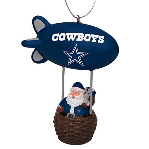 NFL Dallas Cowboys Santa Blimp Ornamentsanta Blimp Ornament, Team Color, One Size ()