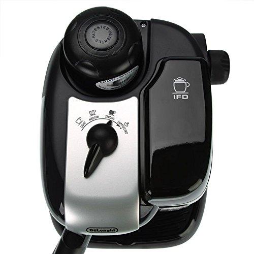 ماكينة قهوة اسبريسو وكابتشينو من ديلونجي - اسود, EC9