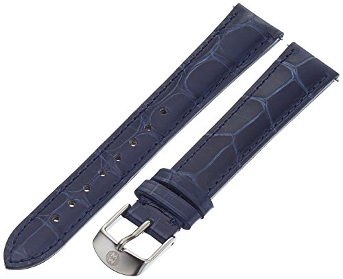 Michele Alligator Watch (MICHELE MS16AA010400 16mm Leather Alligator Blue Watch Strap)