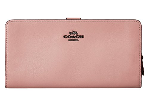 COACH Women's Smooth Leather Skinny Wallet Dk/Dusty Rose One Size by Coach