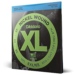 D'Addario Saiten für E-Bass | INDUSTRY STANDARD MADE IN USA | EXL165 | vernickelter Stahl | Custom Light (45-105) | Long…