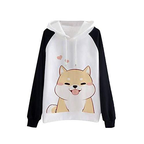 Larga Sudaderas Manga K 2018 Capucha Animal Mujer Otoño Tumblr Chicas Sweatshirt Casual Invierno Kawaii youth Blusa Hoodie Negro Con Capucha Tops Sudadera Iw8FqCx