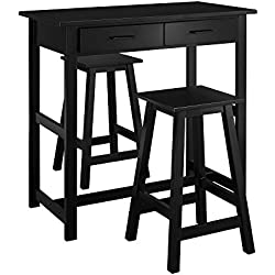 Dorel Living 3-Piece Pub Set, Black
