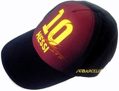 Barcelona F.C. - Gorra para adulto, diseño silueta y firma de Lionel ...