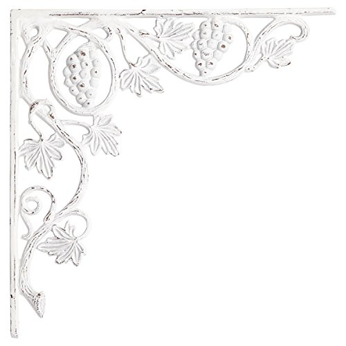 Naiture Grape And Leaf Design Large Iron Shelf Bracket In...