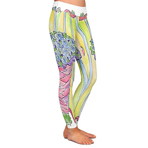 DiaNoche Designs Athletic Yoga Leggings from by Marley Ungaro - Wedding Bouquet by DiaNoche Designs