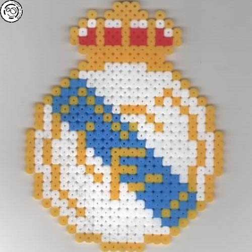Real Madrid Pixel Art Perler Beads Perles à Repasser