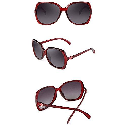 Color Gafas 3 Gafas Delgadas Gafas DT de Coreanas Sol polarizadas Sol 2 de Femeninas 6OxS8q1P