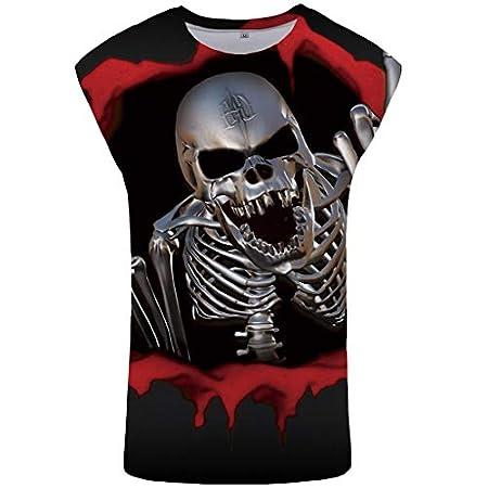 Men's Summer 3D Printed Vest Blouse Fashion Comfort Blouse Top 41d5YZxMLZL