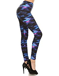 R553-EXTRAPLUS Galaxy Print Fashion Leggings