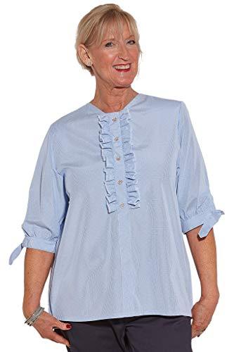 Ovidis Blouse for Women - Blue   Dolly   Adaptive Clothing - L