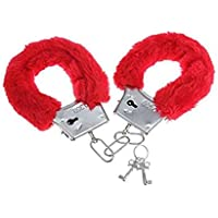 Party Propz Red Handcuff for Bachelorette Or Valentine Gifting