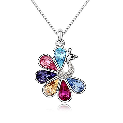 "Pealrich ""Peacock"" Style Fashion Jewelry Pendant Love Necklace With"