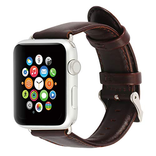 - Daptsy Vintage Leather Bands Compatible with Apple Watch Bands 38mm 42mm for Iwatch Series 3 2 1 Hermes Edition Premium Tan Distressed Handmade Leather