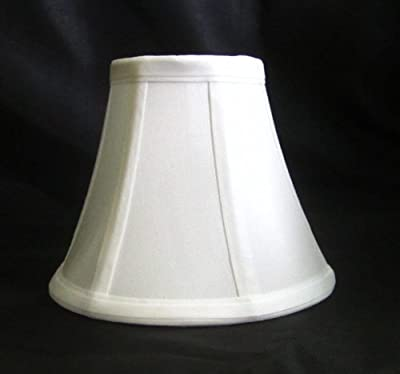 Urbanest 1100329b Chandelier Lamp Shades 6-inch, Bell, Clip On, White (Set of 5)