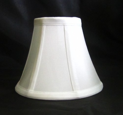 urbanest 1100329b chandelier lamp shades 6 inch bell clip on white. Black Bedroom Furniture Sets. Home Design Ideas