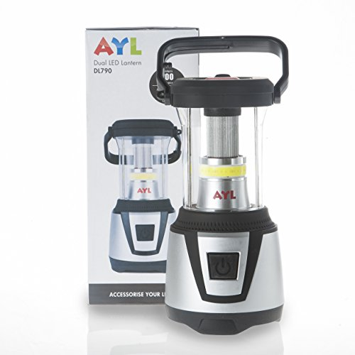 Price comparison product image AYL DL790 Water Resistant 360 Degree LED Lantern plus Flashlight, For Camping, Emergency, Backpacking, Hiking, Outdoor Adventures
